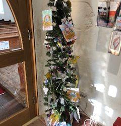 Church Christmas Tree Display
