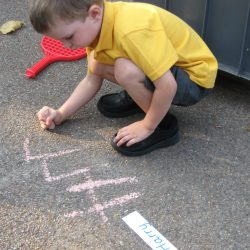 First Week at School - writing our names