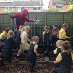 Pretending to be superheroes