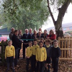 Tracey Crouch MP opening our Wildlife Garden
