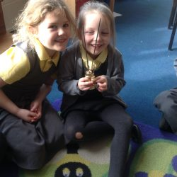 Year 2 had a visitor who told us about Hinduism