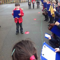 Learning about fractions of length outside