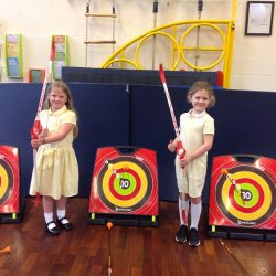 Year 2 learning archery during their Castles topic