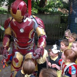 Iron Man visits Gold and Silver Class