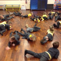 Pretending to be animals - drama workshop