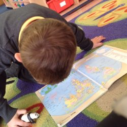 Using maps and globes to find out which countries animals come from